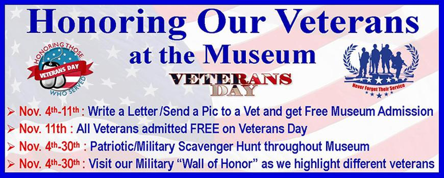 Veteran's Day at the Museum Event